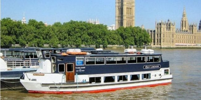 Boat for Scattering Ashes on the River Thames in Central London