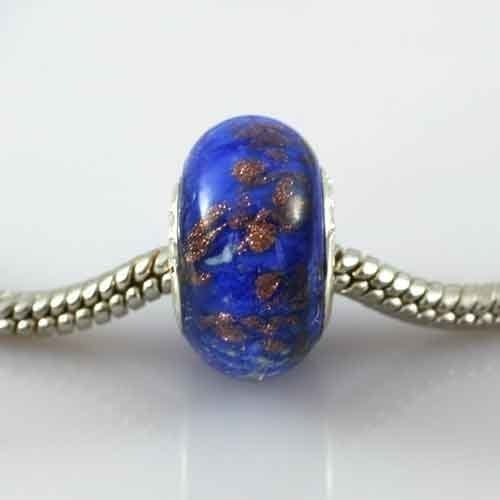 Ashes-into-Pandora-Charm Blue Stardust