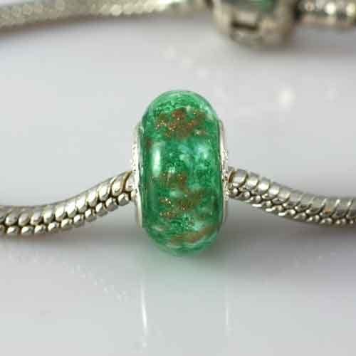 Ashes-into-Pandora-Charm Green Stardust