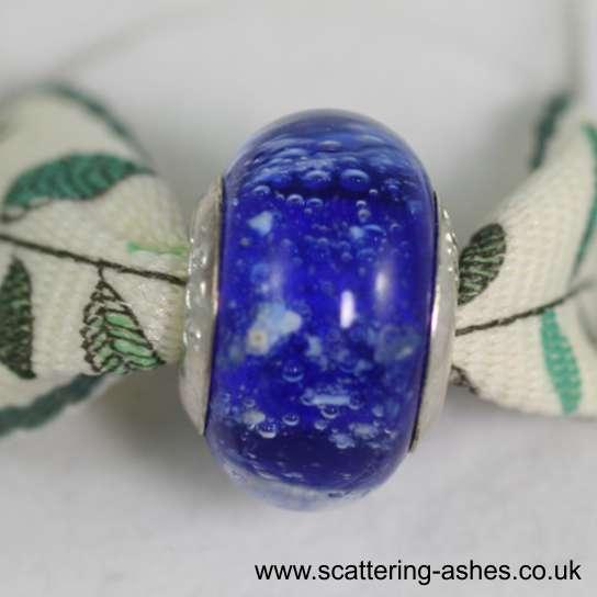 Pandora Style Memorial Charm Bead: Blue