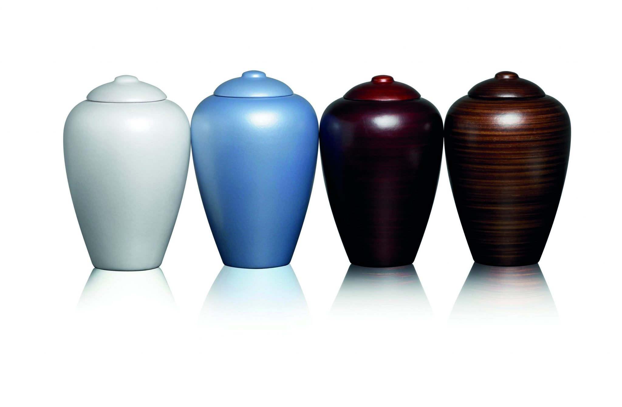Classic Water Urn Classic grey, blue, burgundy and walnut