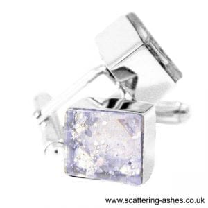 Silver Ashes Cufflinks - Ashes into Jewellery UK