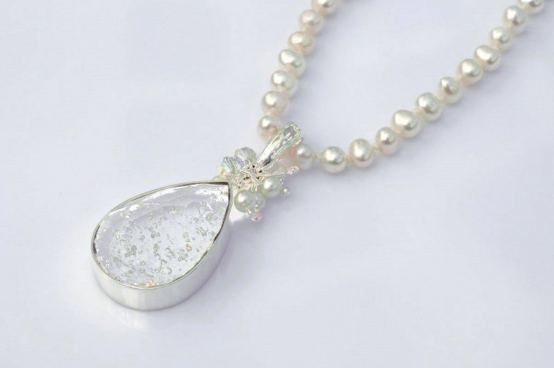 Keepsake necklace ashes within glass teardrop scattering ashes keepsake necklace aloadofball Choice Image