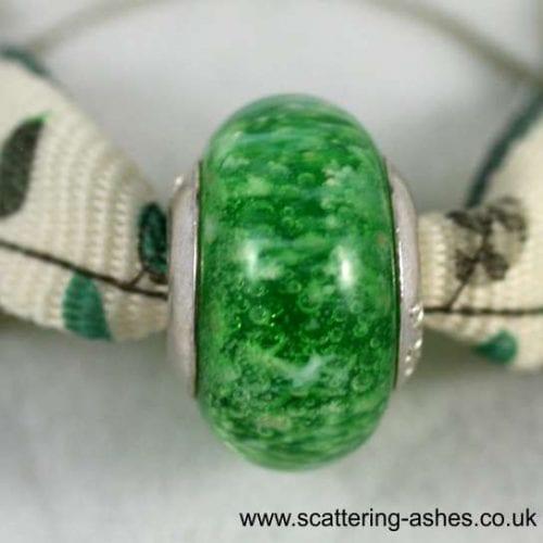 Pandora Style Memorial Charm Bead: Green
