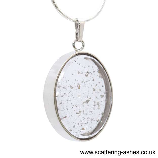 Ashes into a necklace oval glass charm for ashes scattering ashes ashes into a necklace aloadofball Gallery