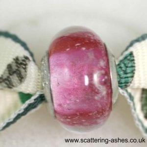 Pandora Style Memorial Charm Bead: Pink