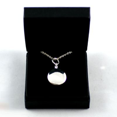 Round Silver Memorial Ashes Necklace