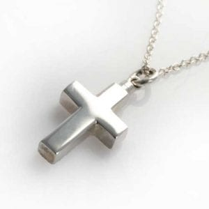 silver cross pendant ashes Jewellery