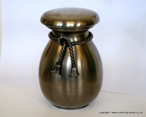 cremation urn ashes pewter