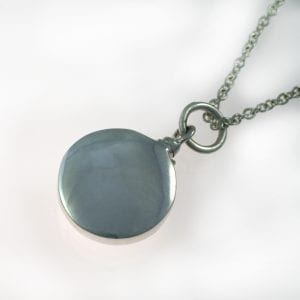 Round Silver Ashes Pendant