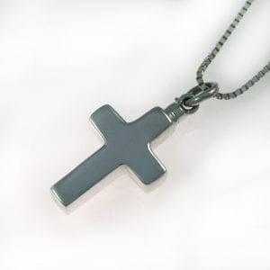 Silver Cross Ashes Memorial Pendant