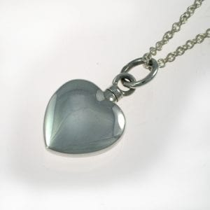 Silver Heart Ashes Necklace