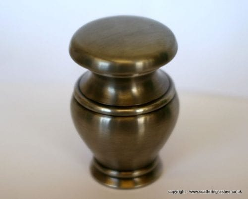 ashes cremation urn pewter