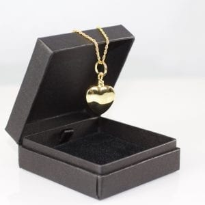 Vermeil Gold Heart Memorial Pendant
