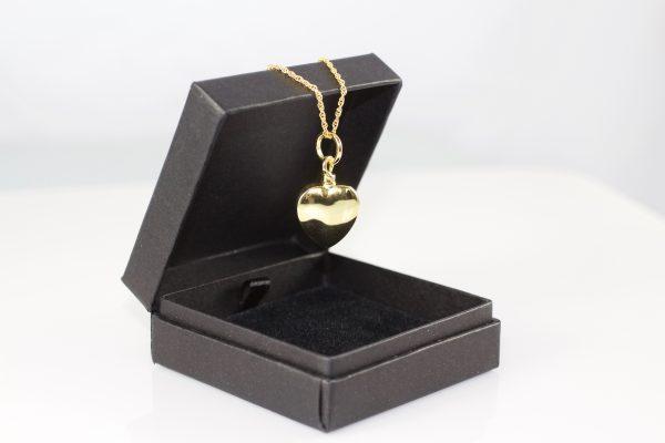 Vermeil Gold Heart Memorial Pendant