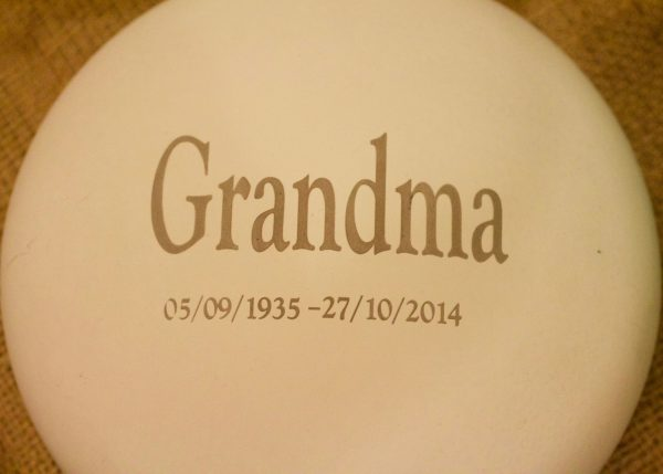 In Loving Memory Inscription Lid Example
