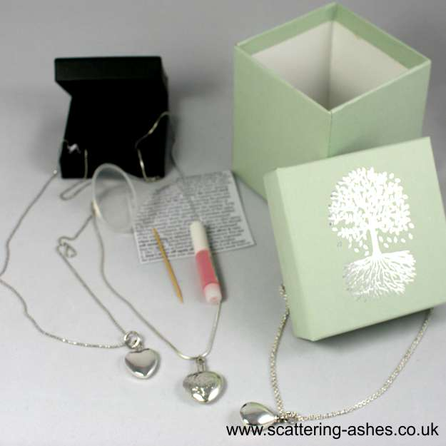 memorial jewellery Silver ashes Ashes into Jewellery UK