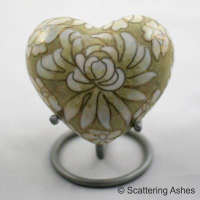 keepsake heart ashes cremation