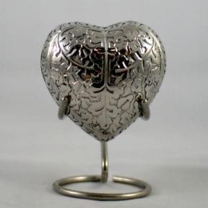 Brass Heart Keepsake Urn