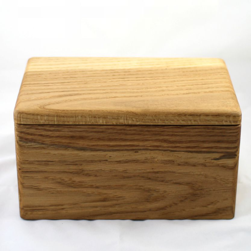 the haytor natural wood cremation urn handmade in devon