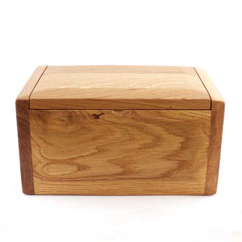 Teign Handmade wood urn for ashes