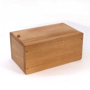 Natural Oak Wood Burial Urn Ashes
