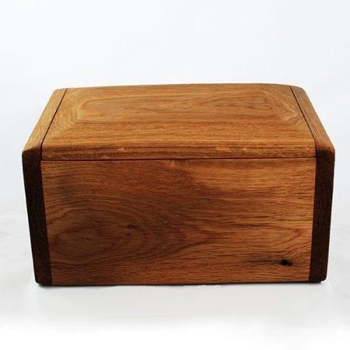 Teign wooden solid oak cremation urn
