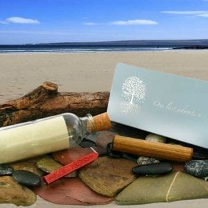 Message in a bottle ashes