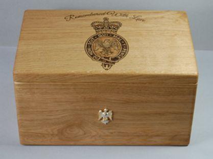 wooden urn tattooing on memorial cremation urn