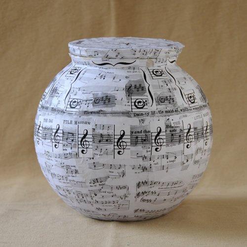 Handmade biodegradable water urn