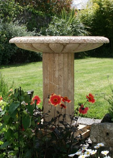 beautiful garden memorial to store ashes