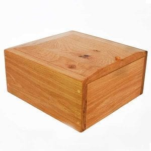 Handmade wooden Two person Ashes Urn Burial