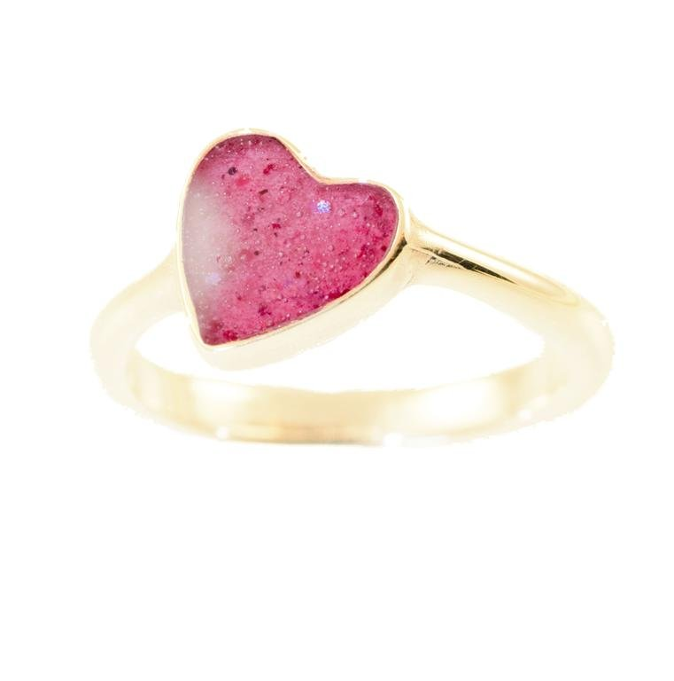 heart engagement pink diamond shaped rings
