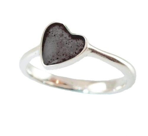 memorial heart ring black
