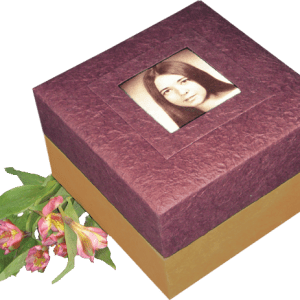 Photo Urns for Natural Burial - Purple