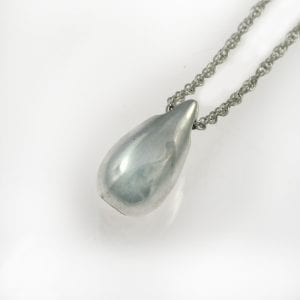 Silver Mini Teardrop Ashes Pendant