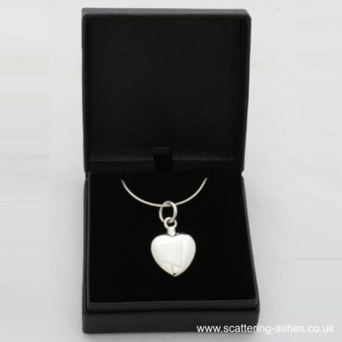 Ashes into Jewellery: 925 Silver Heart Memorial Pendant