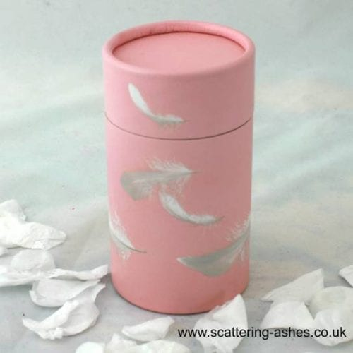 Pink Feathers Infant Scatter Tube