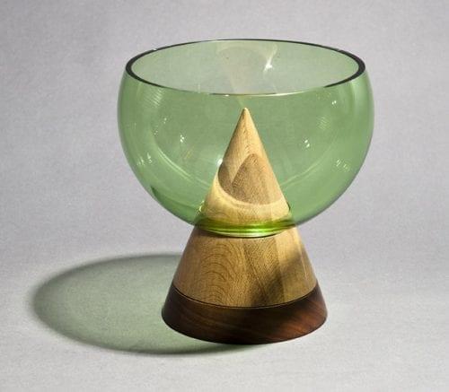 Glass Keepsake Bowl - Green