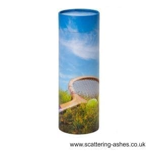 Tennis Fan Scatter Tube