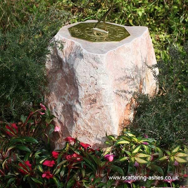 Carved Memorial Stone Sundial: Devon