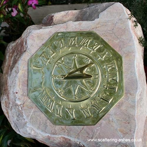 Carved Memorial Stone Sundial: Devon