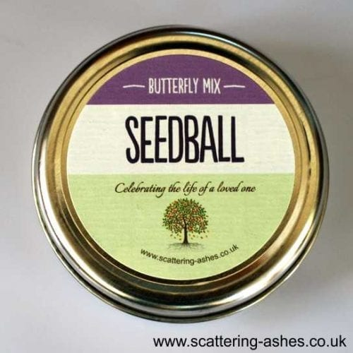 seed balls scattering ashes ceremony
