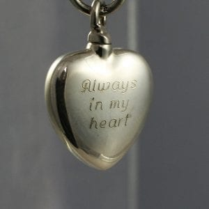 ashes into charms silver heart with engraving
