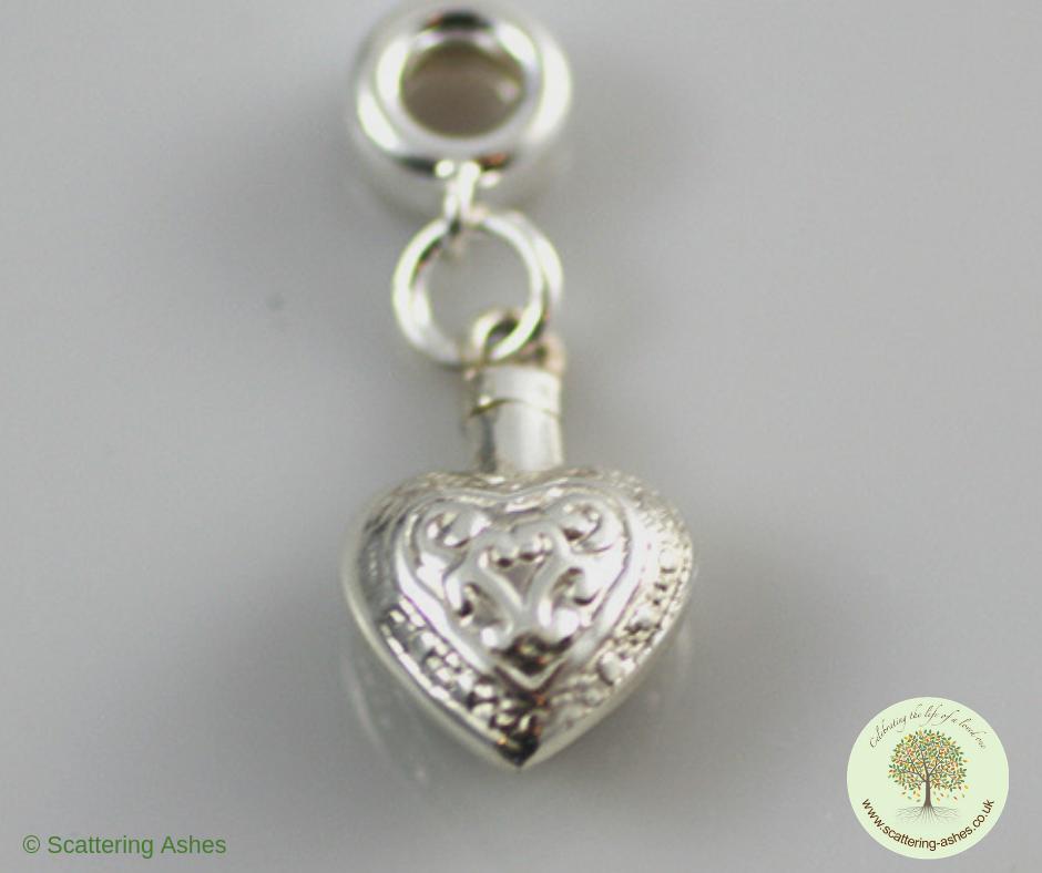 Engraved Charm Bracelet: Engraved Pandora Heart Charm
