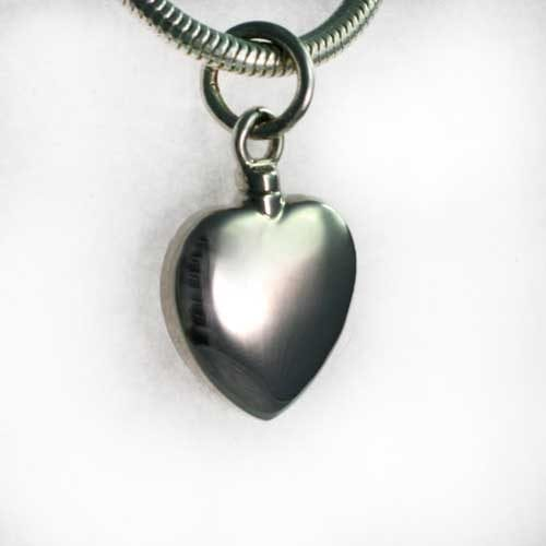 silver heart charm - ashes Jewellery