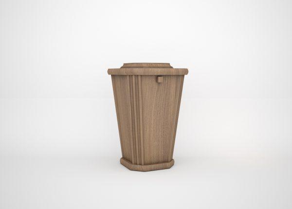 Cremation Niche Wooden Urn - Oak