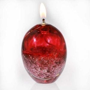 Ashes into Glass Oil Burner Candle