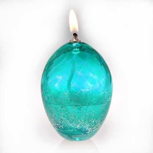 aqua Ashes into Glass Oil Burner Candle