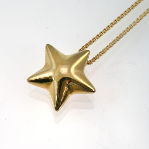 Gold Star Ashes Pendant